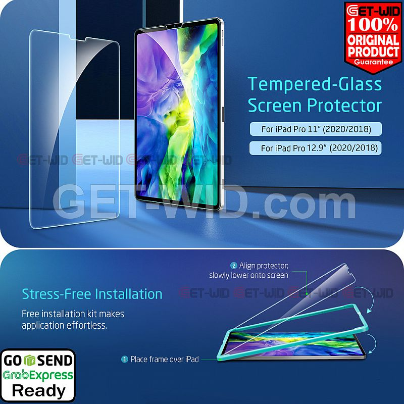 "Tempered Glass iPad Pro 11"" - 12.9"" 2020 ESR Screen Guard Original"